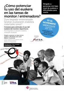Potencias El uso del euskera entre monitores y entrenadoras