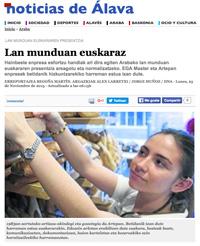 'Lan munduan euskaraz' (Noticias de Álava, 2015/11/23)