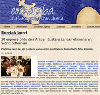 30 enpresa bildu dira Araban Euskara Lanean ekimenaren 'world coffee'-an (Euskaraba, 2015/09/28)
